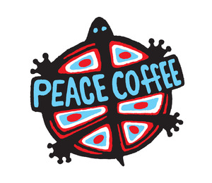 Peace Coffee Logo Simple Tilted